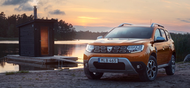 Orange Dacia Duster SUV