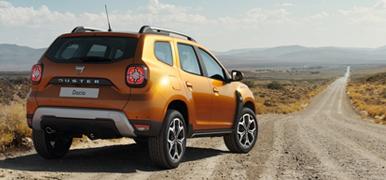 Orange Dacia Duster