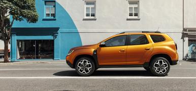Fyrhjulsdriven Dacia Duster i profil